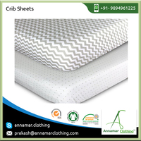 Standard Quality Cotton Crib Sheet from Industry's Reputed Exporter