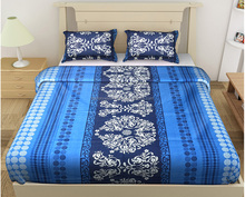 Traditional cum Modern Beautiful Multi color Printed Double Bed Sheet with 2 Pillow Covers