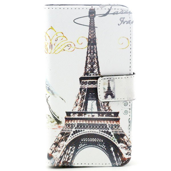 Eiffel tower flip back cover case for samsung galaxy j2