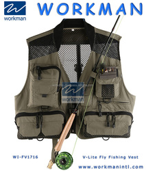 Men's Mesh Fly Fishing Vest Outerwear Waistcoat Quick Dry High Quality Multifunctional Pocket Casual Outdoor Sports Fish Jackets