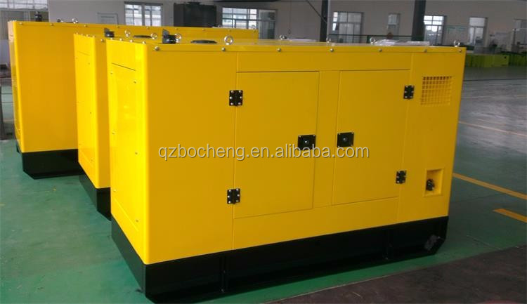 100 kw / 125 kva noise free powered by diesel engine silent genset