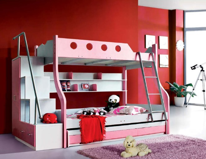mordern design sweet bunk bed