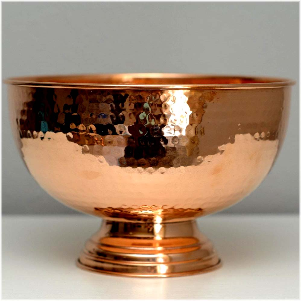 Solid Copper Punch Bowl