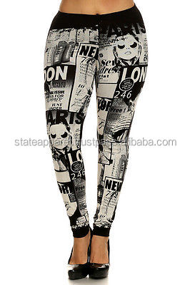 Wholesale Sublimation Women Legging / Custom Logo Sexy Subliamtion Print Sport Fitness Leggings For Women / Yoga