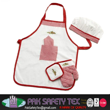 Kitchen Aprons Oven Gloves With Chef Hat
