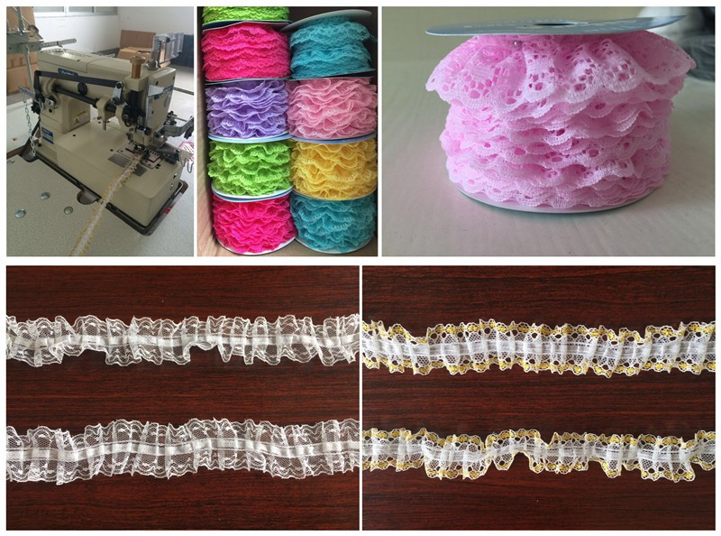 hongtai Sequins Decoration and Organza Fabric Type african guipure lace fabric