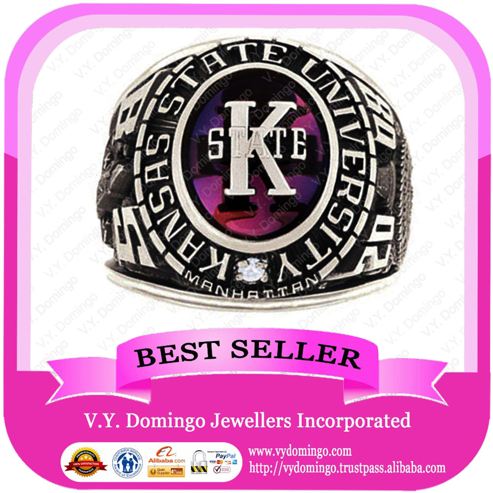 Wholesale College Ring Custom Made Stainless Steel Class Ring
