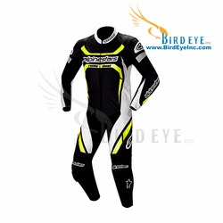 Motorbike Suit 1 Piece Replica Alpine Star CE Approved Protection motorcycle Leather Jacket