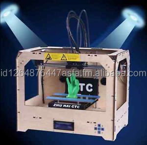 3D Printer based on Makerbot Replicator 2 extruders 1kg ABS dual-nozzle CE