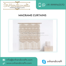 100% Natural Cotton Cord Made Wall Hanging Macrame Curtains