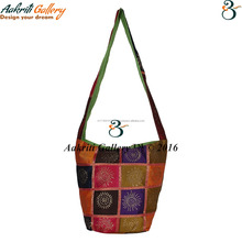 Tribal Shoulder Bag Ethnic Designer Patch work Satchel (jhola) Design Fashionable Stylish Indian Handmade Shoppers Bag
