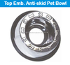 Top Emboss Anti Skid Pet Bowls for dogs and cats