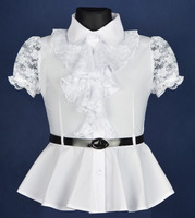 White flowers shirt for girl