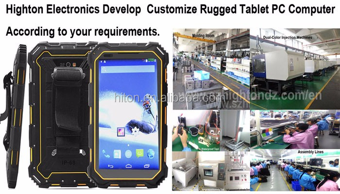 IP68 7 inch touch screen wifi gps 4g nfc rfid fingerprint reader barcode scanner reader rugged tablet
