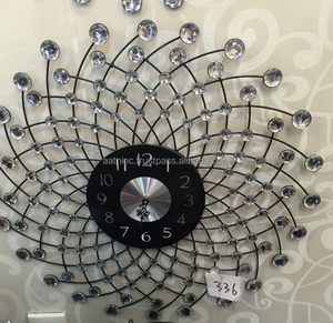 Metal wall clock modern design