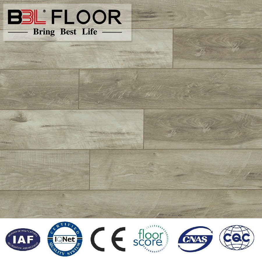 BBL Manufacturer Durable Damp Proof indoor Energy Saving Laminate Wood Flooring/click lock