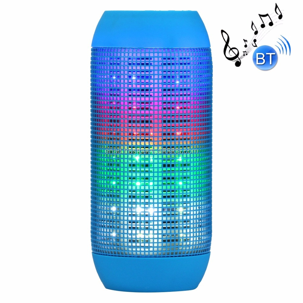 Pulse Portable Bluetooth Streaming Mini Speaker with Built-in LED Light Show & Mic(Blue)