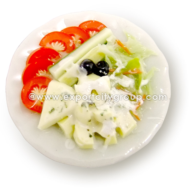 Miniature Food Plate Dish - House Salad 2.5cm (1 inch)