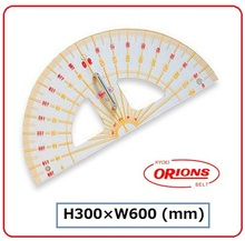 Polymethyl methacrylate , teaching large protractor , KYOEI Plastic , Japan quality