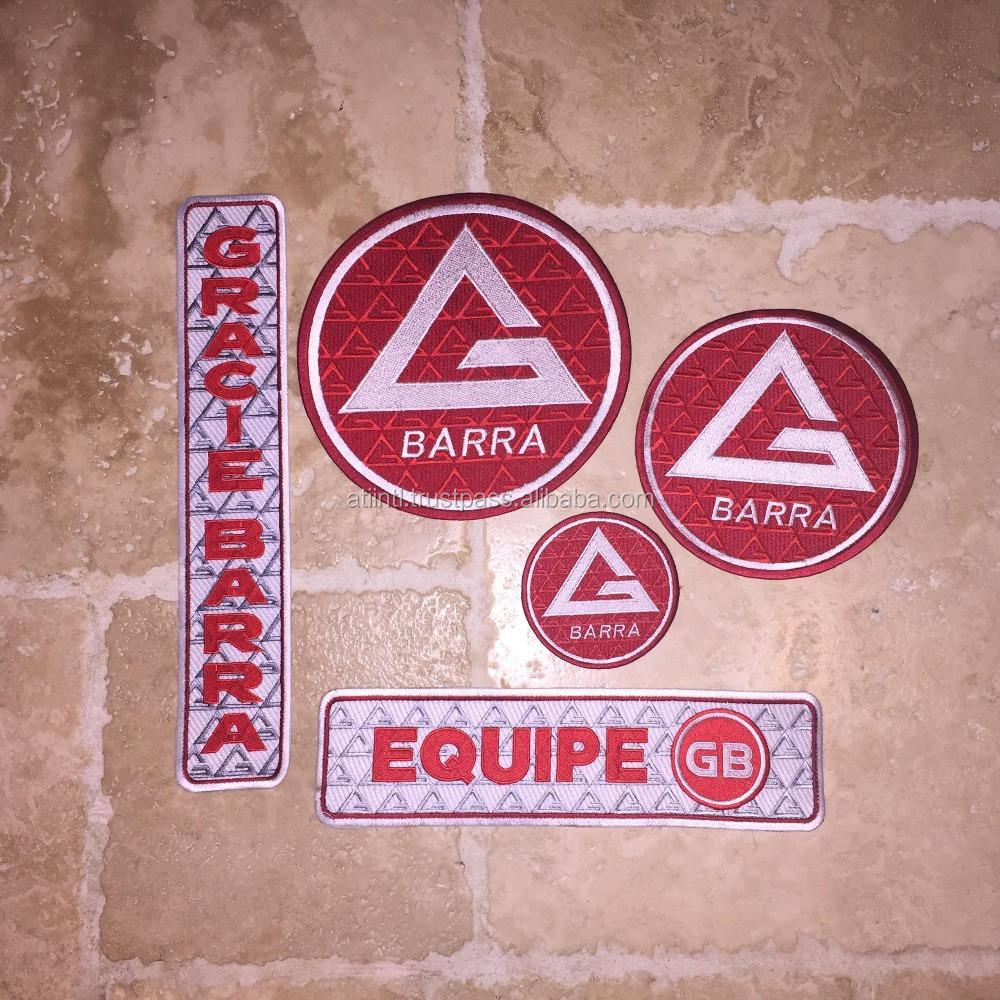 NEW Gracie Barra Patch Kit/SET (BJJ Embriodered Patches)