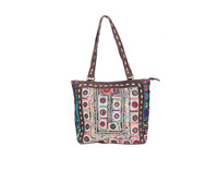 Traditional Vintage Women Embroidered Shoulder Bag Cum Handbag