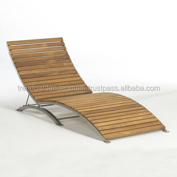 Beach teak wood lounge chair furniture design for king