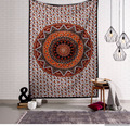 Bedspread Bed cover Twin Size Indian Cotton Mandala Tapestry