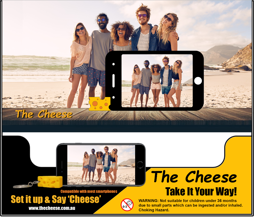 The Cheese Smartphone Mobile Phone Selfie Photo Phone Holder
