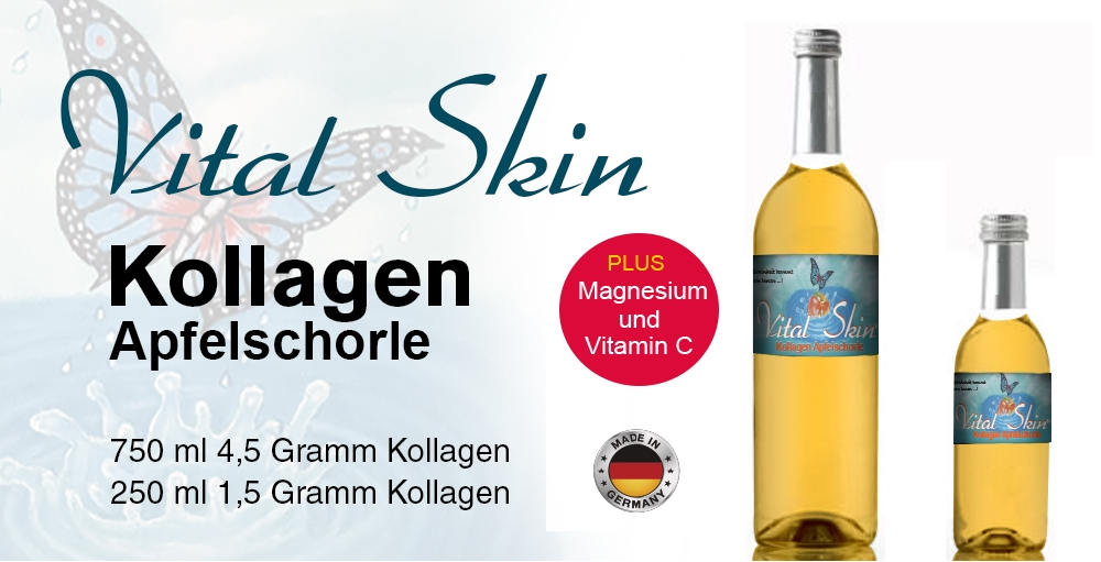 Collagen Sparkling Water with apple juice with Vitamine C and Magnesium German Product