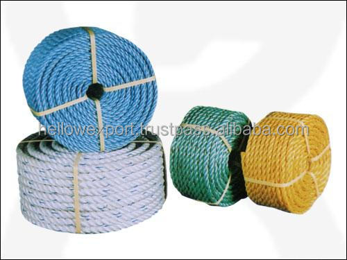 mooring/warning twisted pp/pe rope/coconut fiber rope
