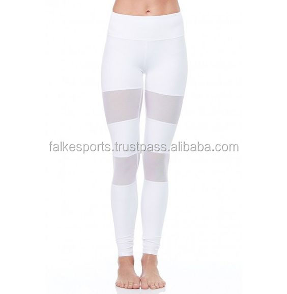 FS300339 Women Sexy Stretch Lycra Fold Over Sport Athletic Gym Workout Fitness Yoga Pants OEM Supplier Pakistan