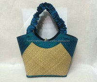 Hanoi sales green handles bamboo beach bag