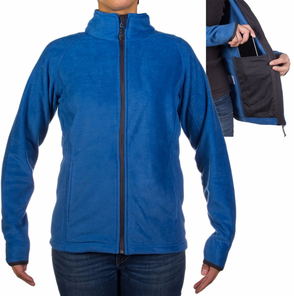high class polar fleece jacket with mobile pocket place direct to factory I.M International