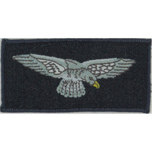 machine embroidery badges RAF Arm Eagle - - New Merrowed Edge Pattern On RAF Blue-Grey Embroidered Air Force Badge