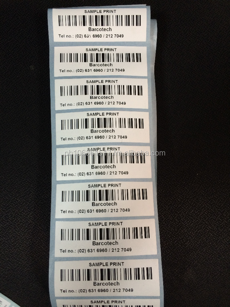 Yupo Synthetic Barcode Stickers