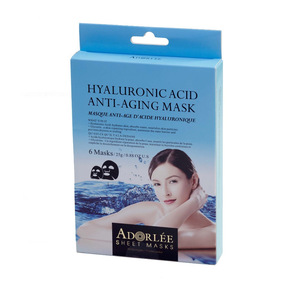 Adorlee Hyluoronic Acid ANTI-AGING MASKS 6PC