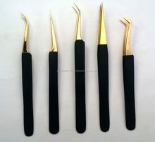 Double Color Eyelash Extension Tweezers / Lash Extension Tweezers / Sharp Pointed Eyelash Tweezers With Custom