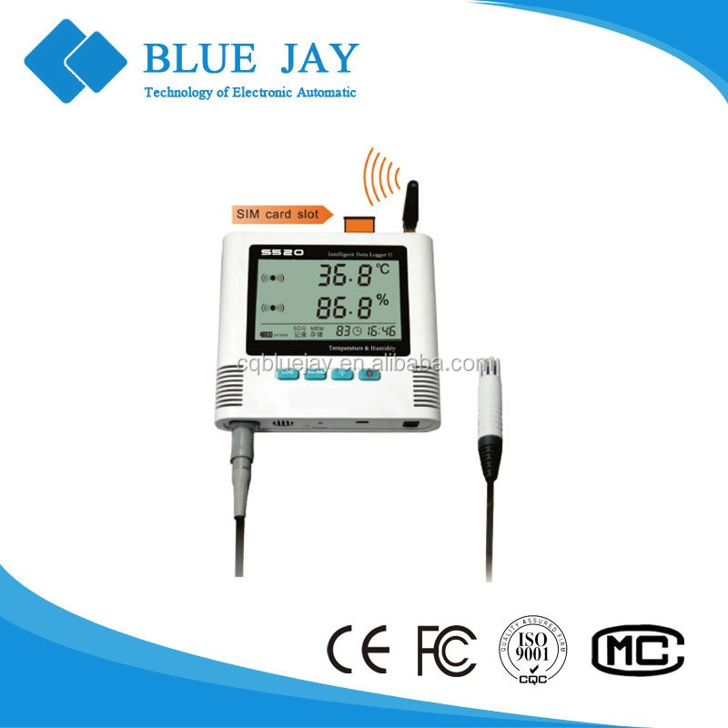 S500-EX-GPRS 0.3 class high accuracy real-time monitoring temperature and humidity data logger with external probe