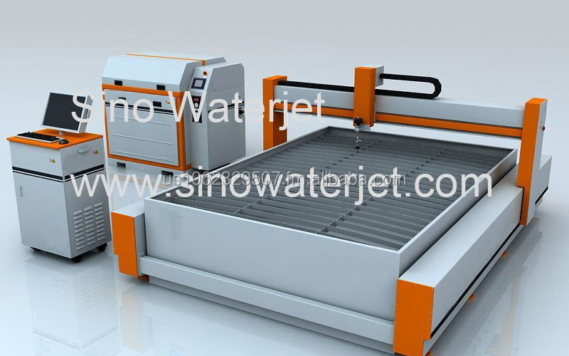 cnc waterjet cutter for glass marble granite steel cutting