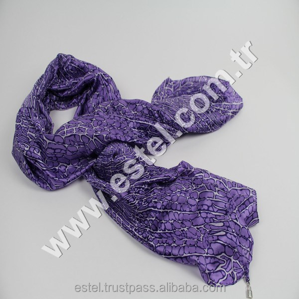 ESY-078.Fashion Silk Scarfs for 2015 spring fancy crystal hijab Purple