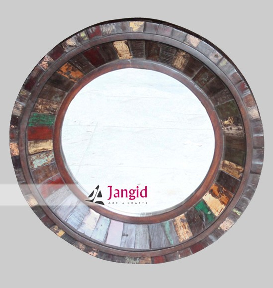 indian vintage reclaimed wooden mirror frame supplier and manufacturer