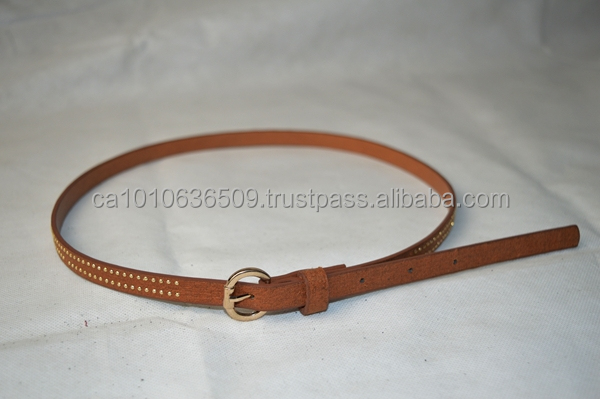 fashion pu belts with studs and alloy buckle