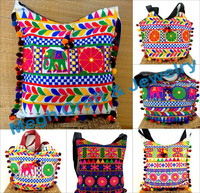 Gujarati Kutch embroidered handbag-Traditional Banjara Handbag-Wholesale Indian Elephant Style Handbag-Hippie bag
