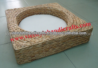 Water hyacinth cat bed, cat house, cat cage - Skype: Ms.RICO.VietStyle