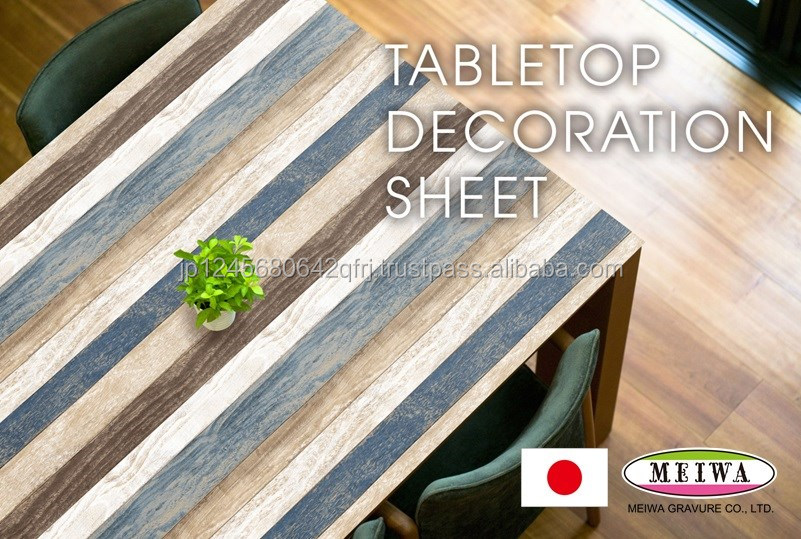 PVC Table decoration sheet by Meiwa Gravure made in Japan [search word->>] static cling sticker