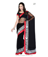 Net Sarees With Blouse Design