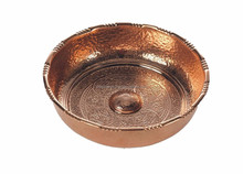 Copper Herbal Hammam Bowl With Hammered Finish Pedicure massage foot spa bowls