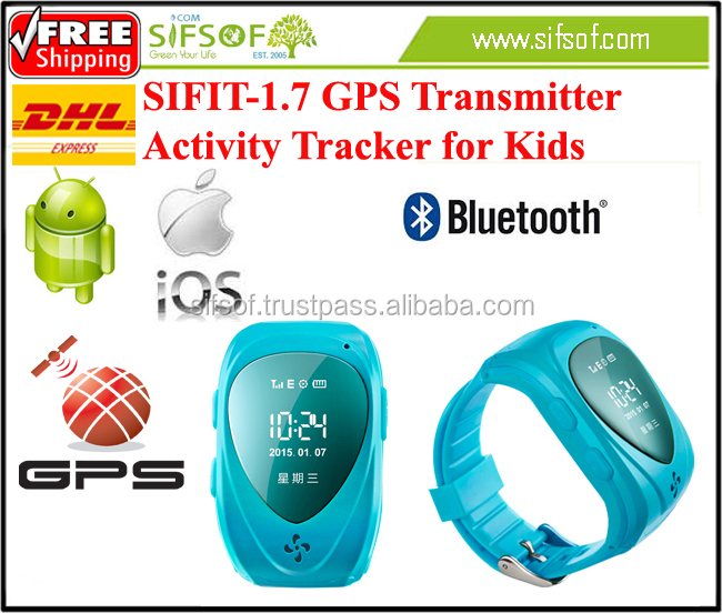 SIFIT-1.7 Smart GPS Watch Pedometer. Activity tracker with Geo-fence.