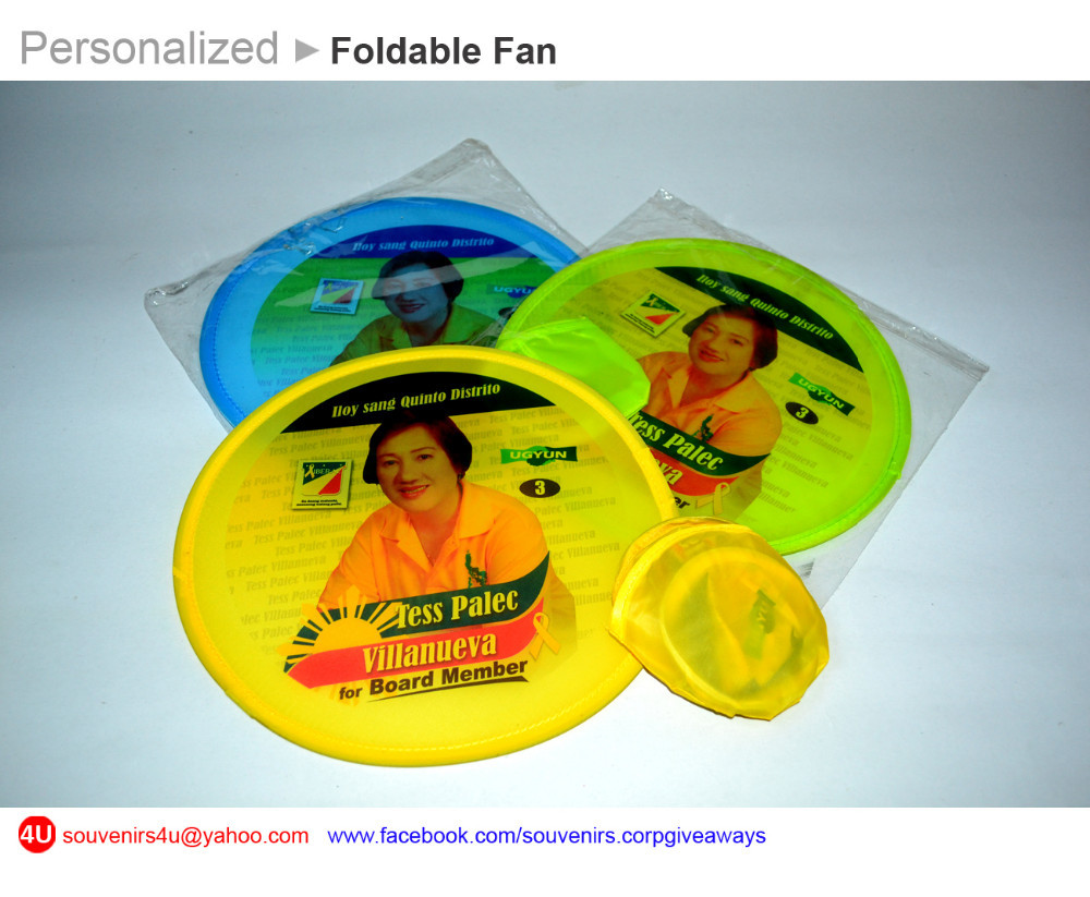 Personalized Foldable Fan, Souvenirs & Corporate Giveaways, Digital Fullcolor Printed Fans