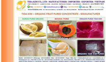 FROZEN DURIAN FRESH ORGANIC BANANA PUREE CONCENTRATE - TIDA KIM - DRAGON PUREE CONCENTRATE -ORGANIC JUICE POWDER SOURSOP PUREE